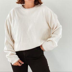 SADDLEBRED   Vintage Cream Oversized Grandpa Sweater Sz L